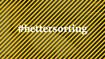 #bettersorting The hashtag about circular economy