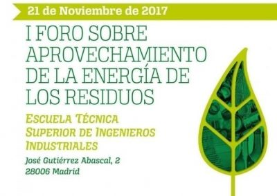 I Forum on the use of waste energy